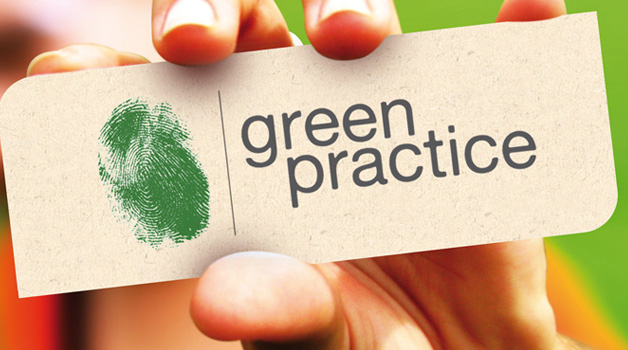 Green practice Business card